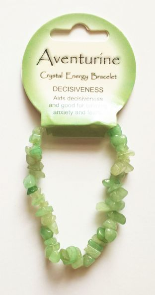 Crystal Energy - Aventurine - Decisiveness - Gemstone Chip Bracelet